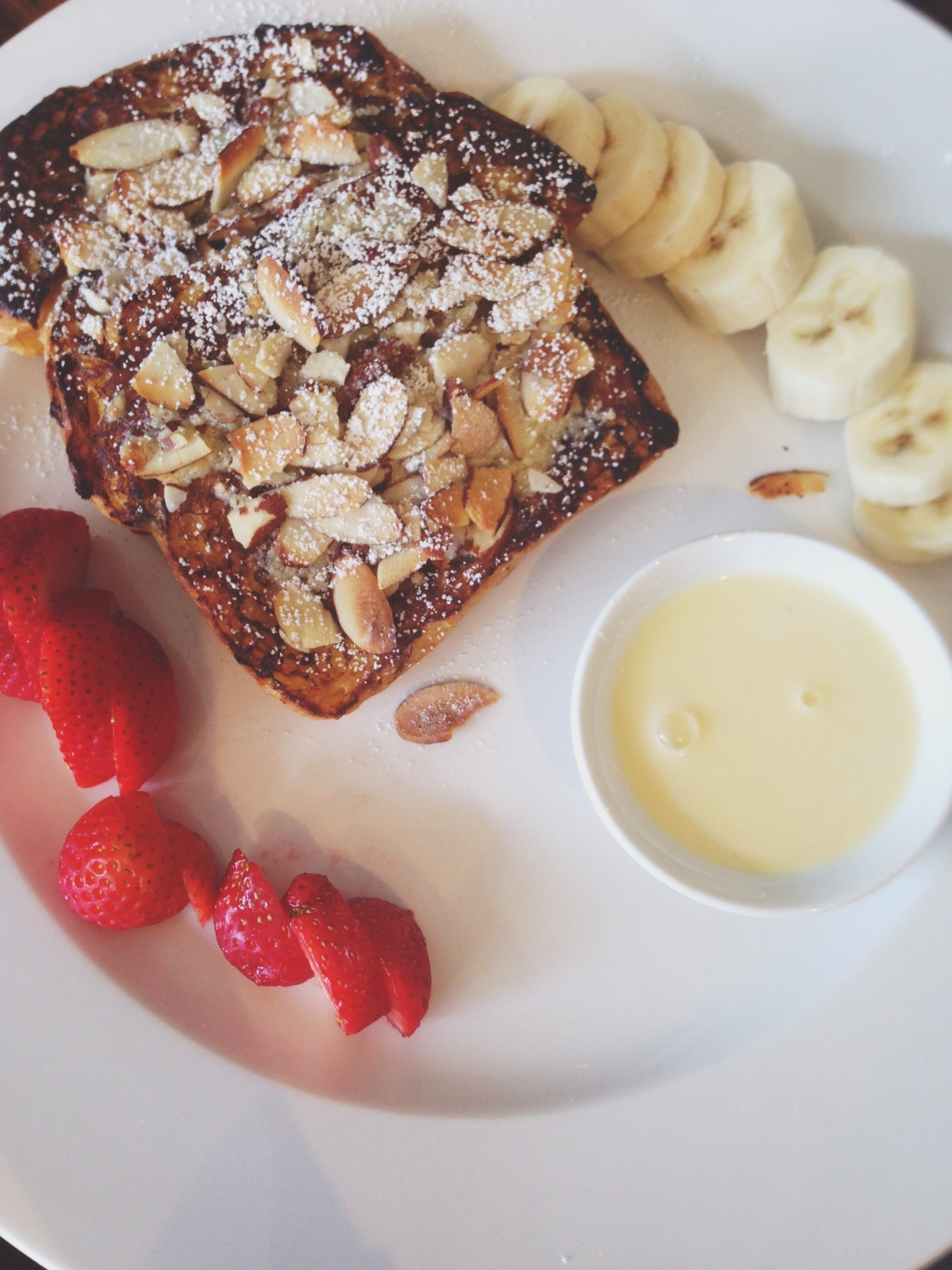 Delicious almond french toast at  Patisserie Florentine , my new favorite brunch place
