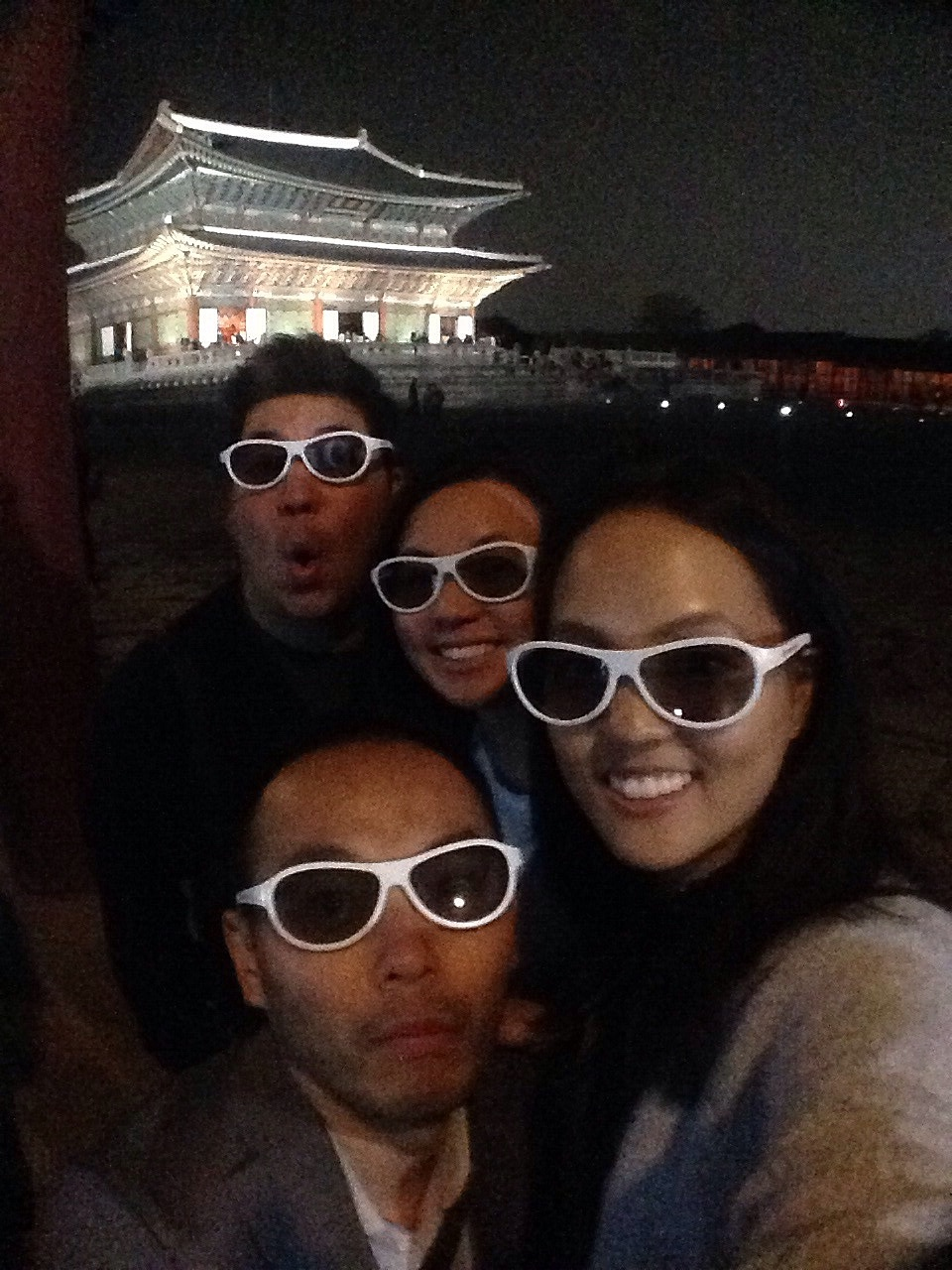 3D glasses at Gyeongbok Palace. That's how we roll.