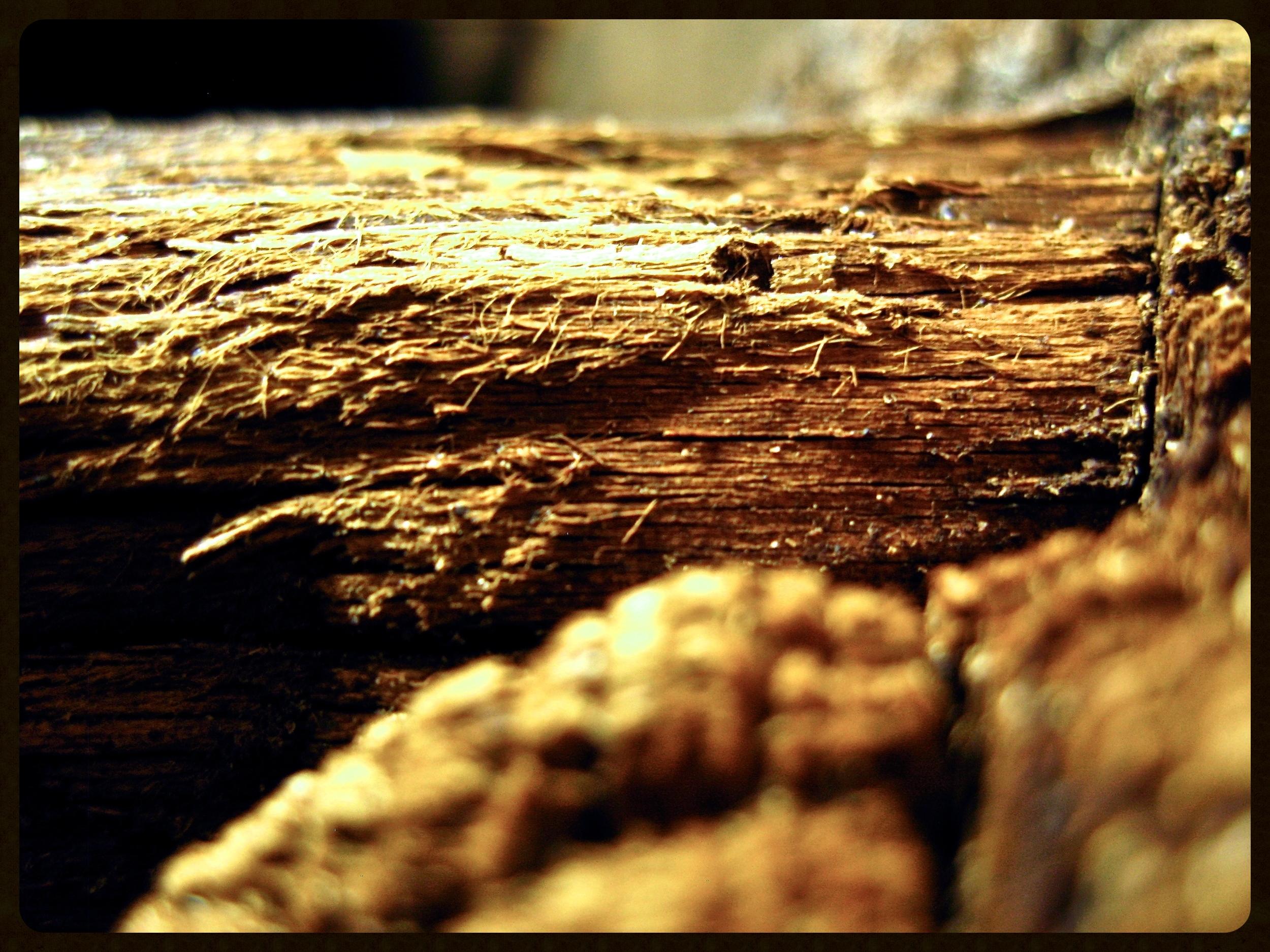 Old wooden wash back at Bowmore, Islay.