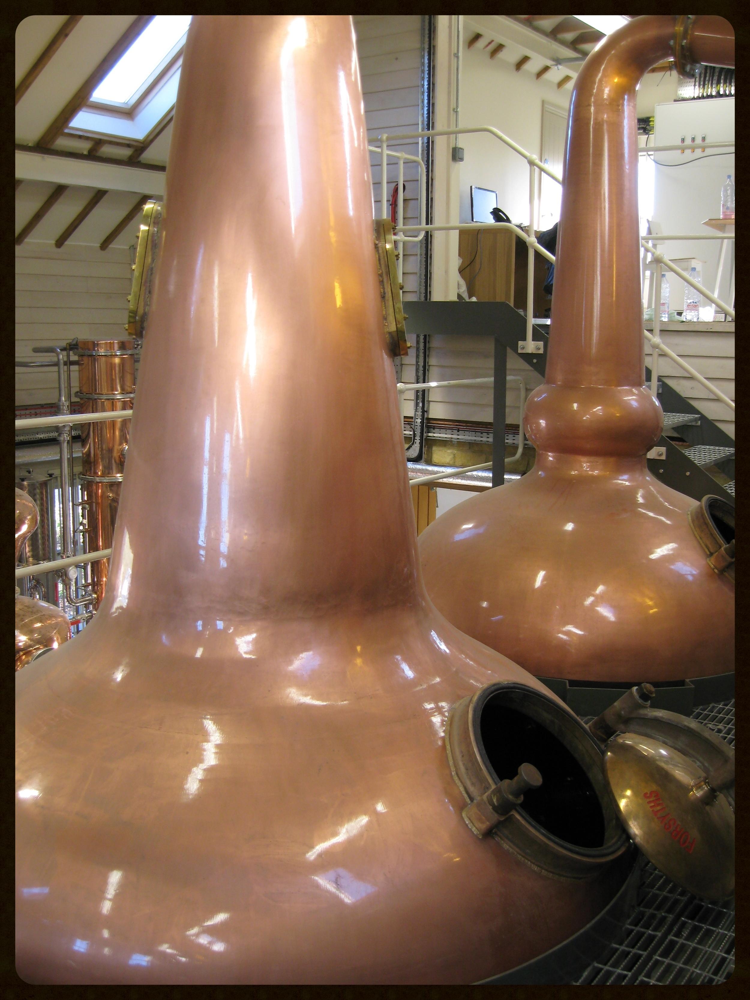 Stills at Cotswold's Distillery, England.