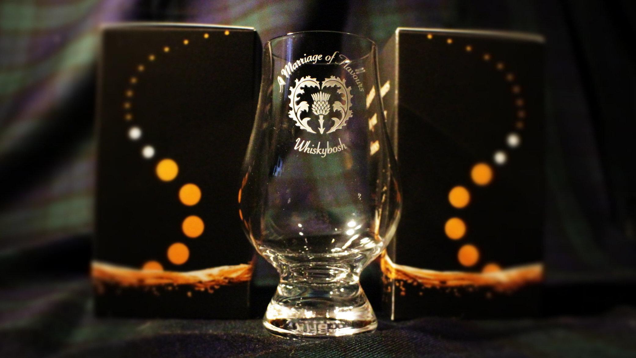 Engraved whisky glasses.