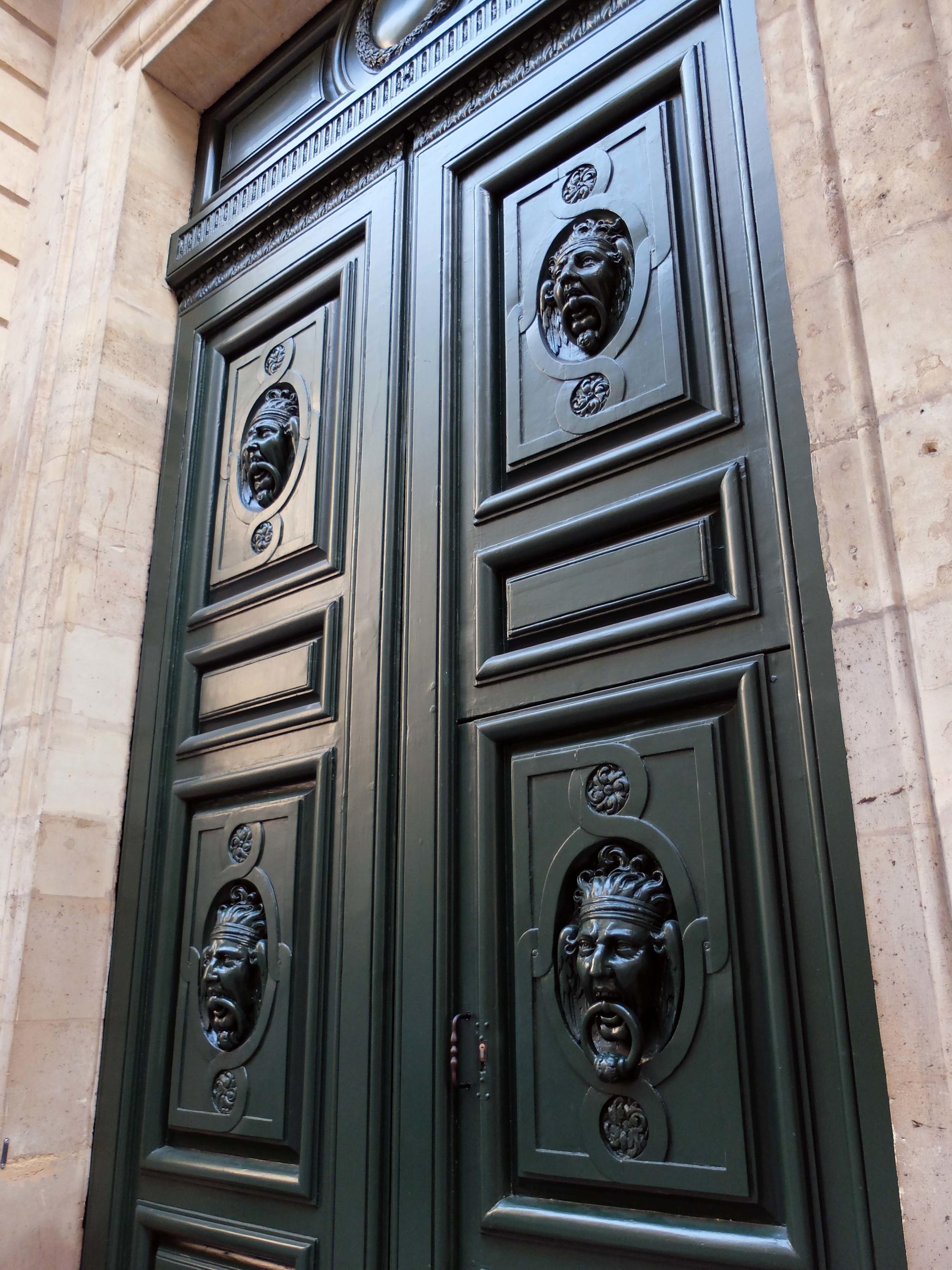 Carved door knocker