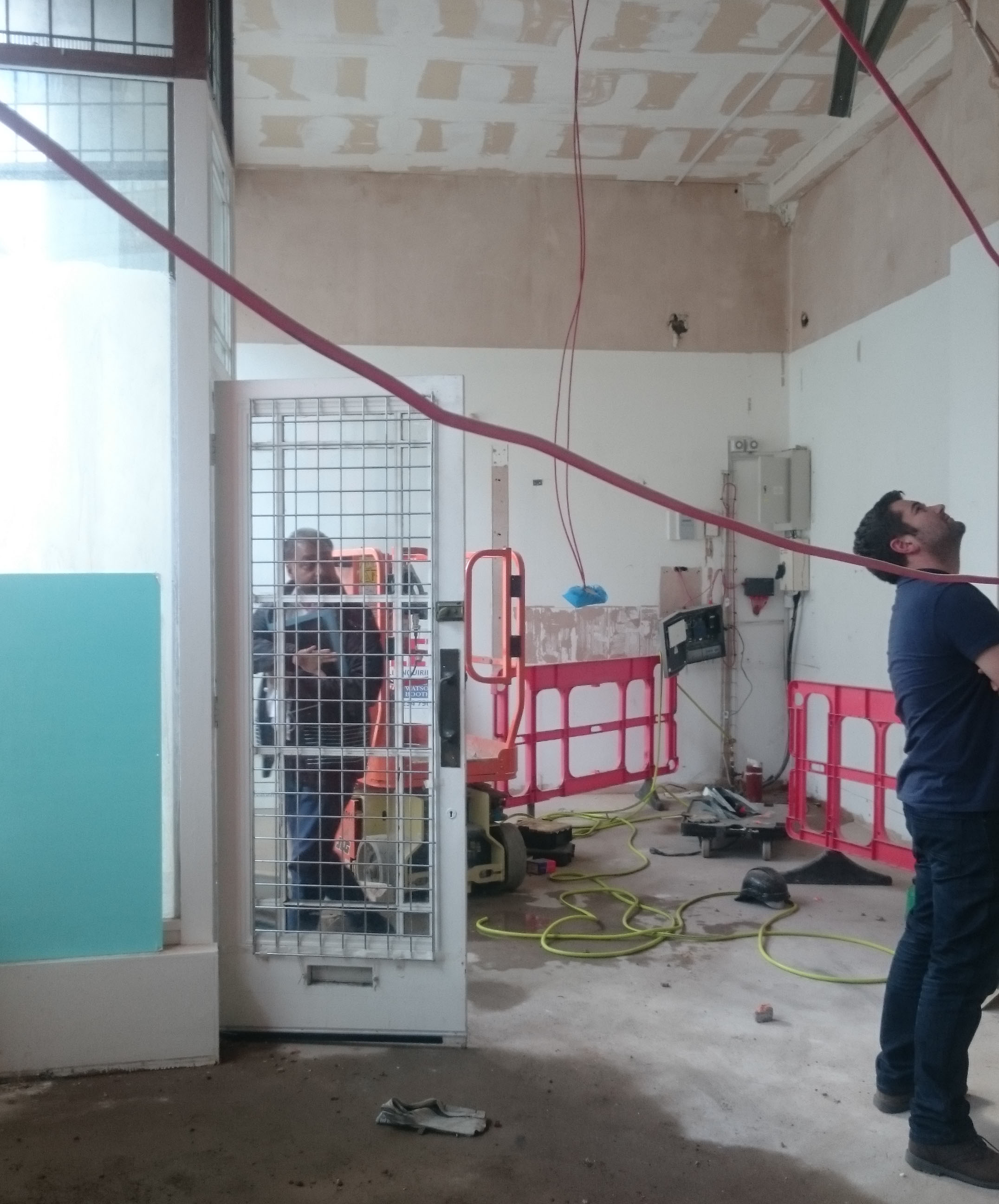 Interior designers aren't afraid of scenes like this! We work with all the tradespeople to tackle all those little niggles that turn up on site.