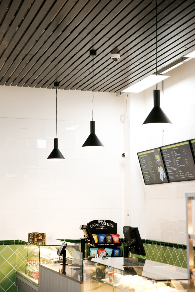 Carrs Pasties - lighting and ceiling design