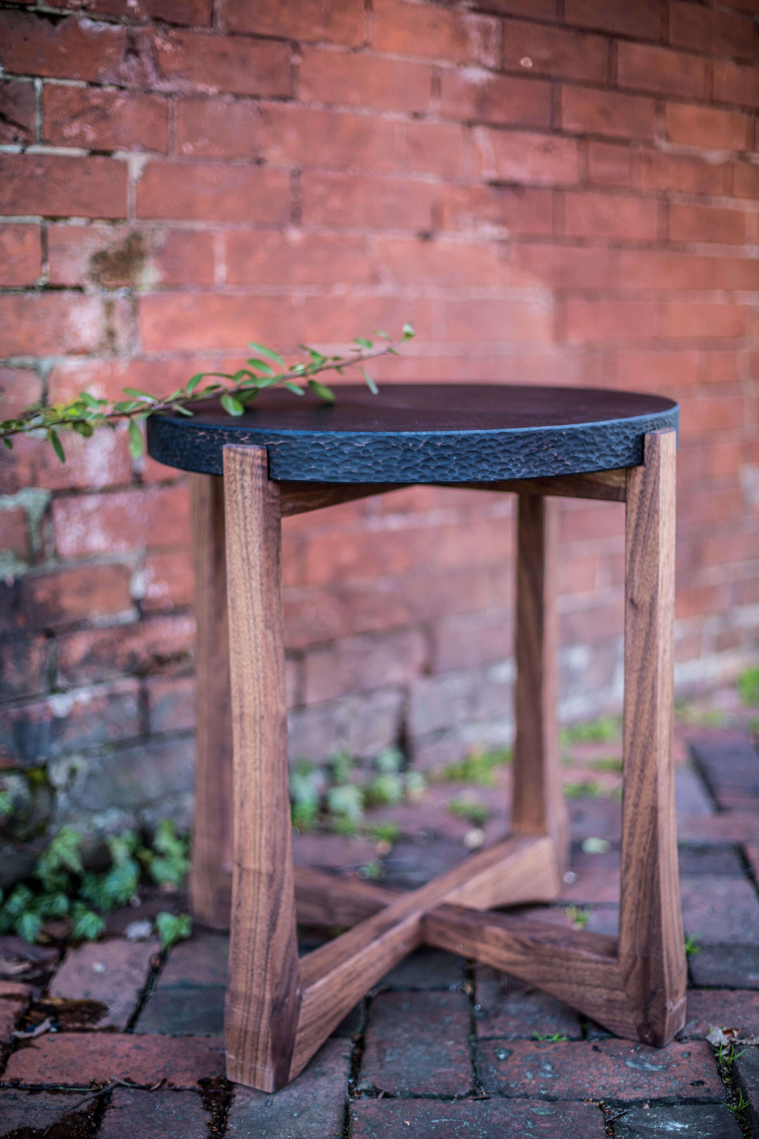 Alicia_Dietz_Modern_Concrete_Furniture_Carved_Wood_End_Table_Sofa_Table_Richmond_VA_2