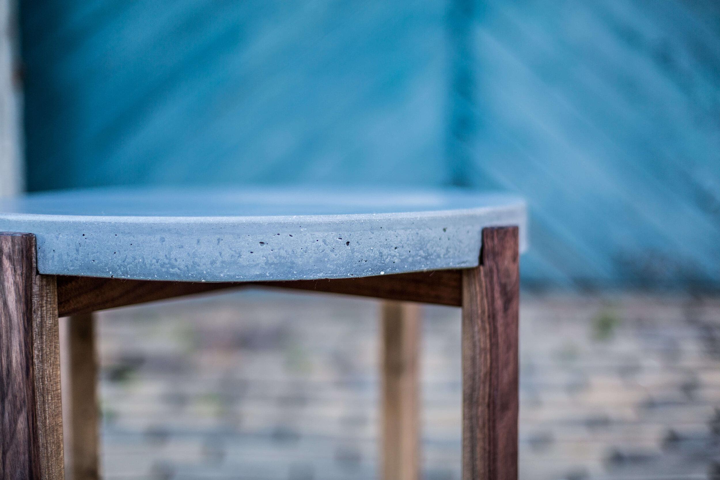 Alicia_Dietz_Modern_Concrete_Furniture_Carved_Wood_End_Table_Sofa_Table_Richmond_VA_9