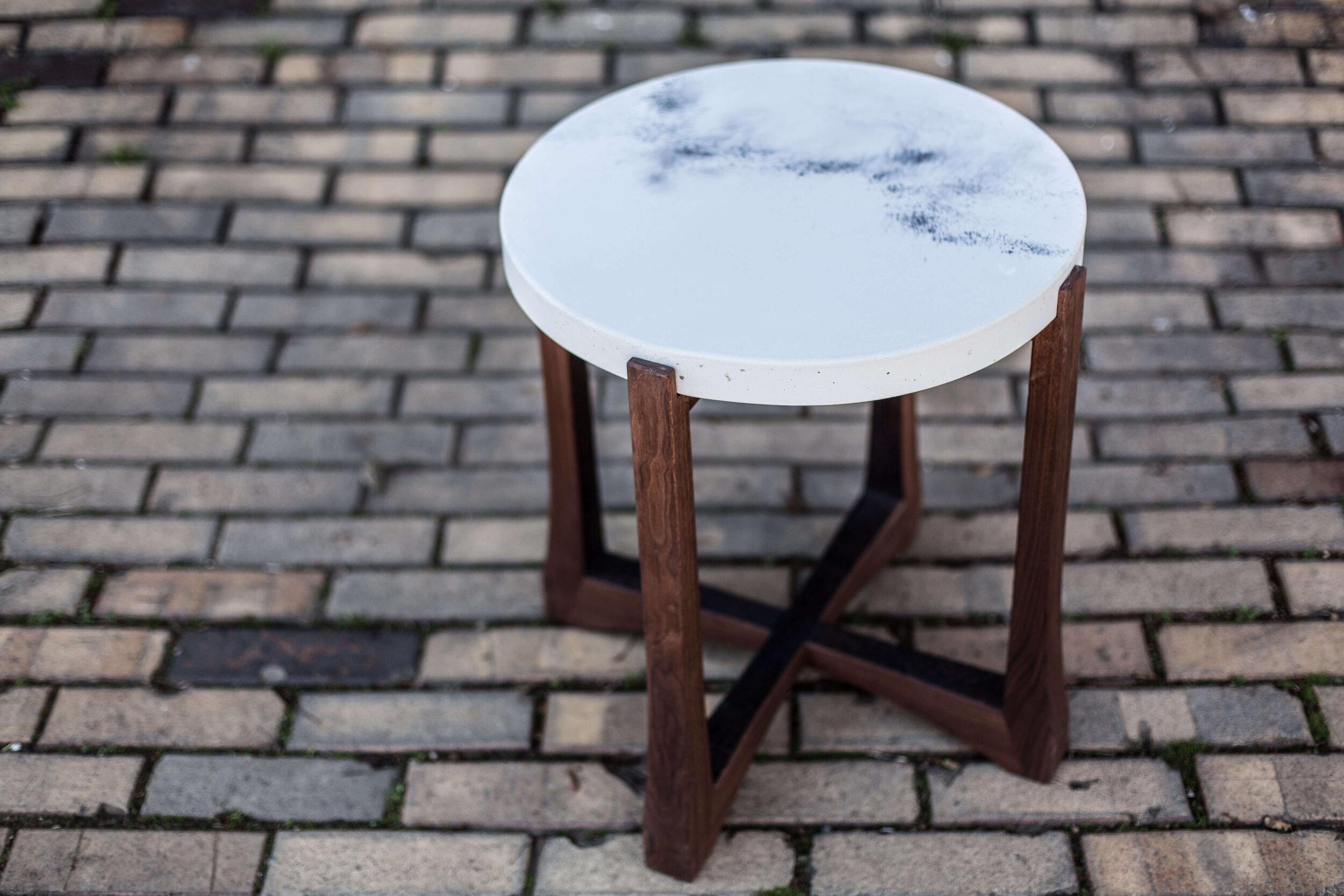 Alicia_Dietz_Modern_Concrete_Furniture_Carved_Wood_End_Table_Sofa_Table_Richmond_VA_7