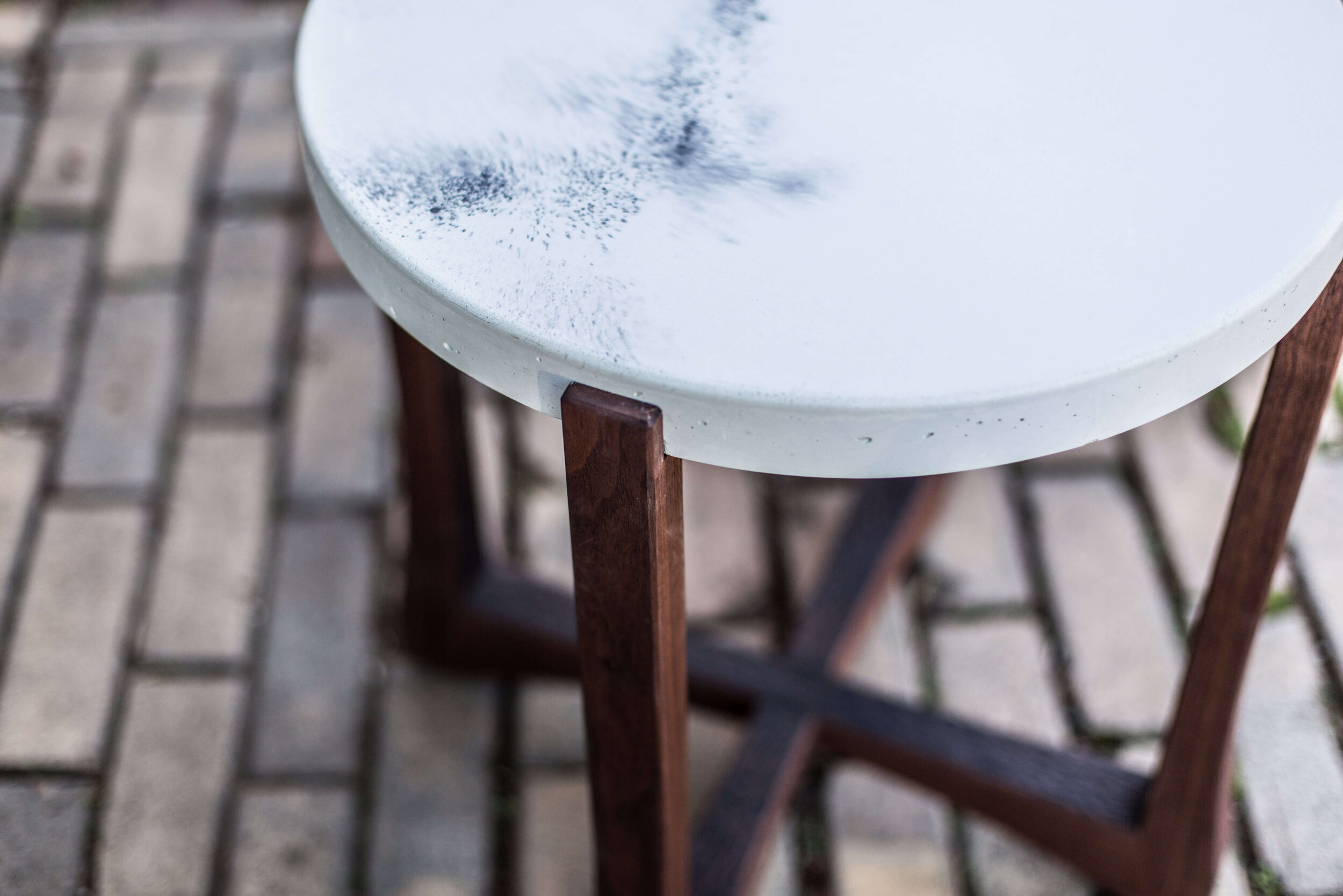 Alicia_Dietz_Modern_Concrete_Furniture_Carved_Wood_End_Table_Sofa_Table_Richmond_VA_8