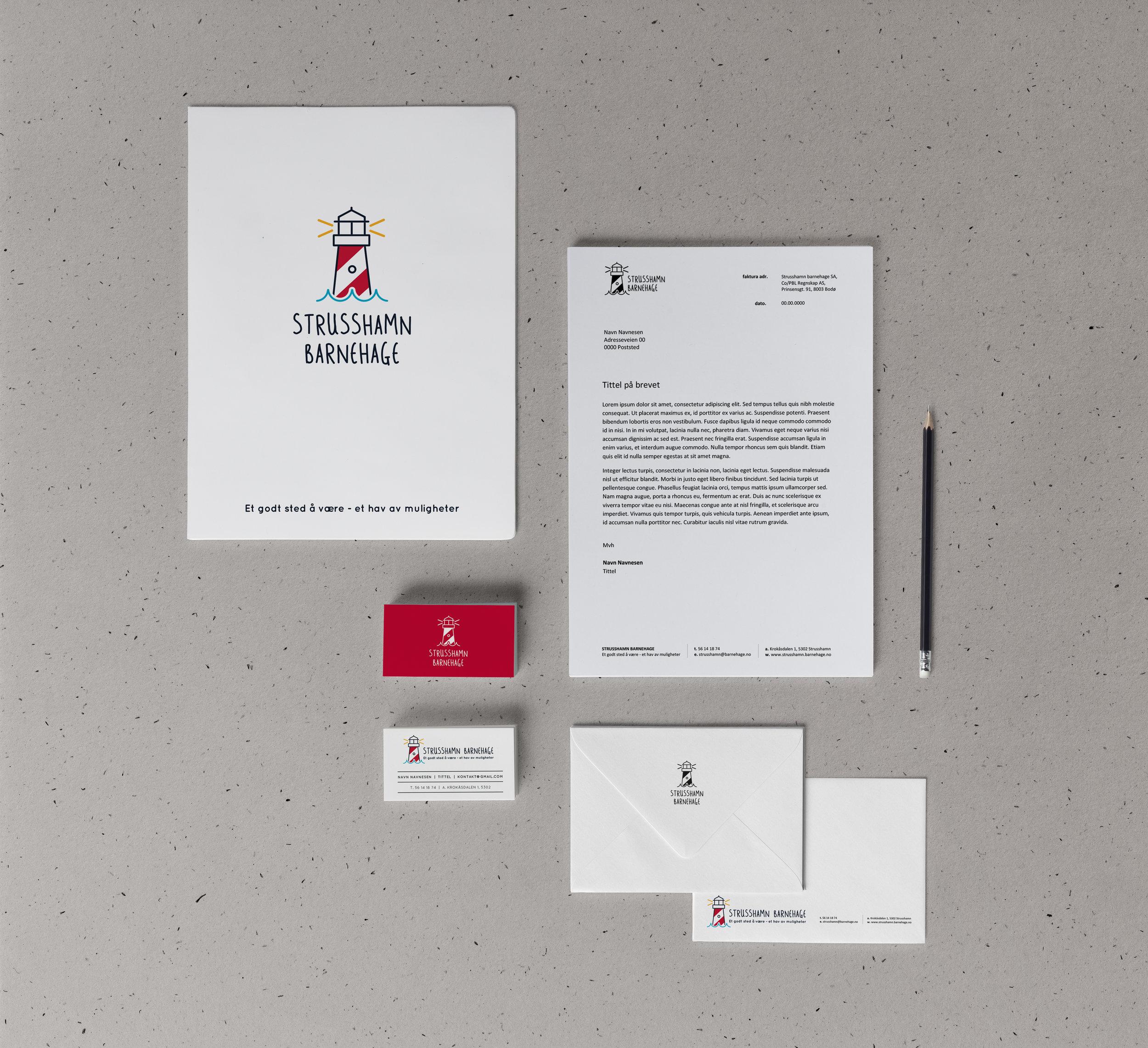 Strusshamn Barnehage - Logo, visuell identitet og profileringsmateriale
