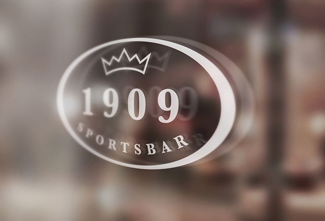 Logo og profilering for 1909 Sportsbar på Dr.Holms Hotel.