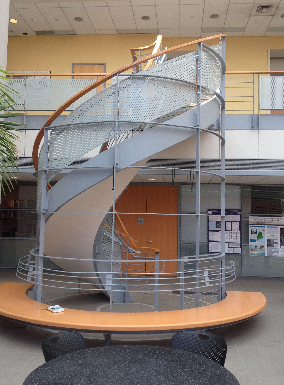 Interior of a Bowdoin academic building