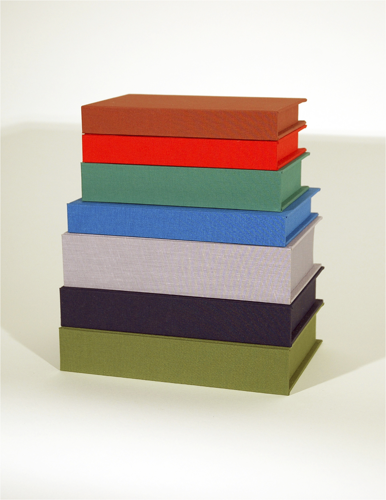 Gilbert: The Accidental Murderer's Monument; Bookbinding Board and Fabric with Entombed Books; Dimensions Variable; 2007