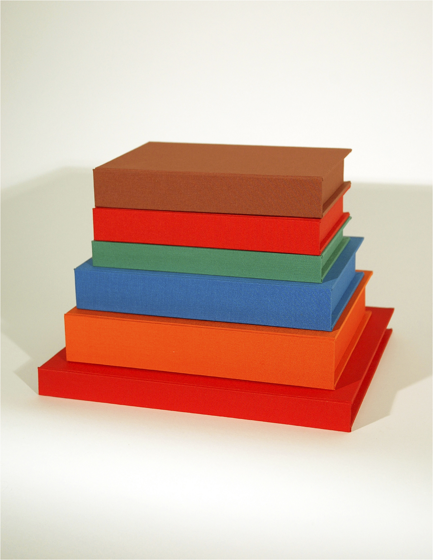 Robert: The Brother's Monument; Bookbinding Board and Fabric with Entombed Books; Dimensions Variable; 2007
