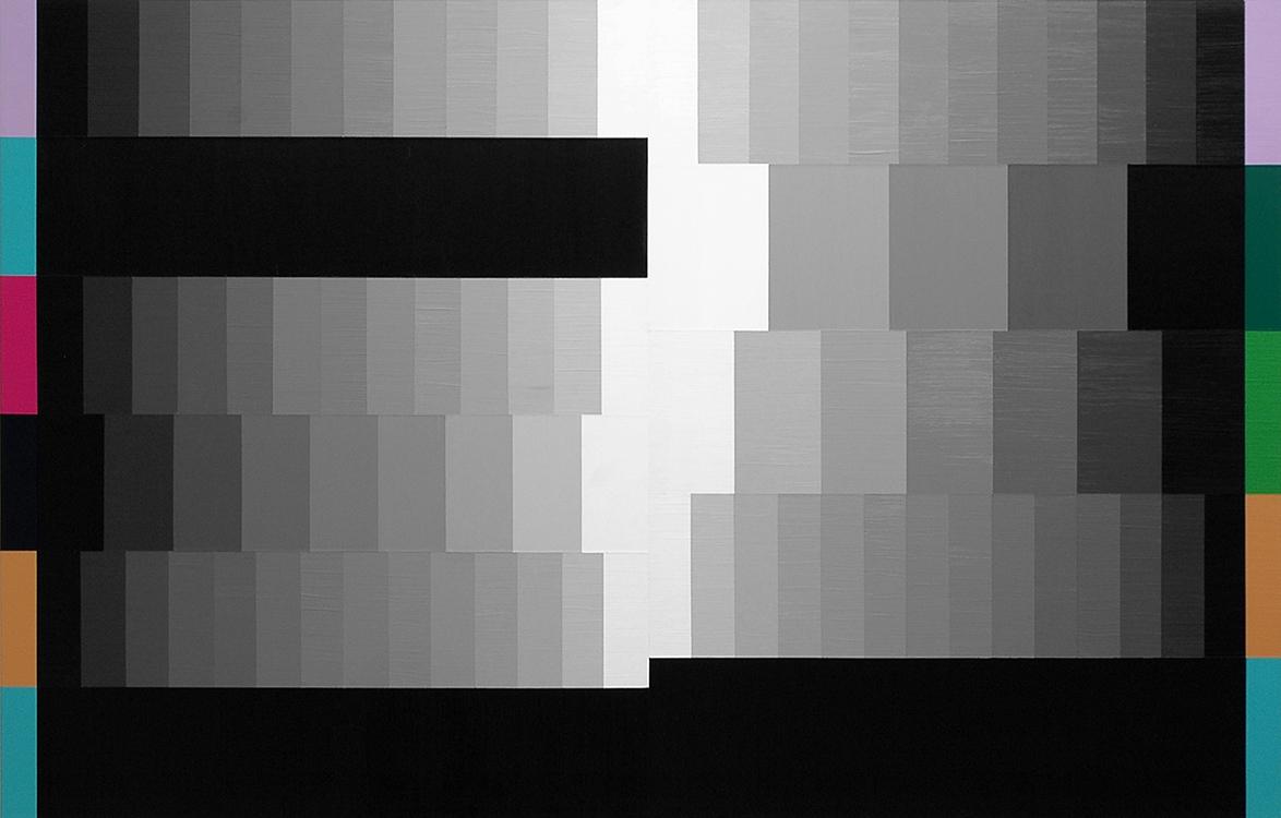 "Animal to Angel (Black Rules);Acrylic on Aluminum Panel; 44"" x 28""; 2007"