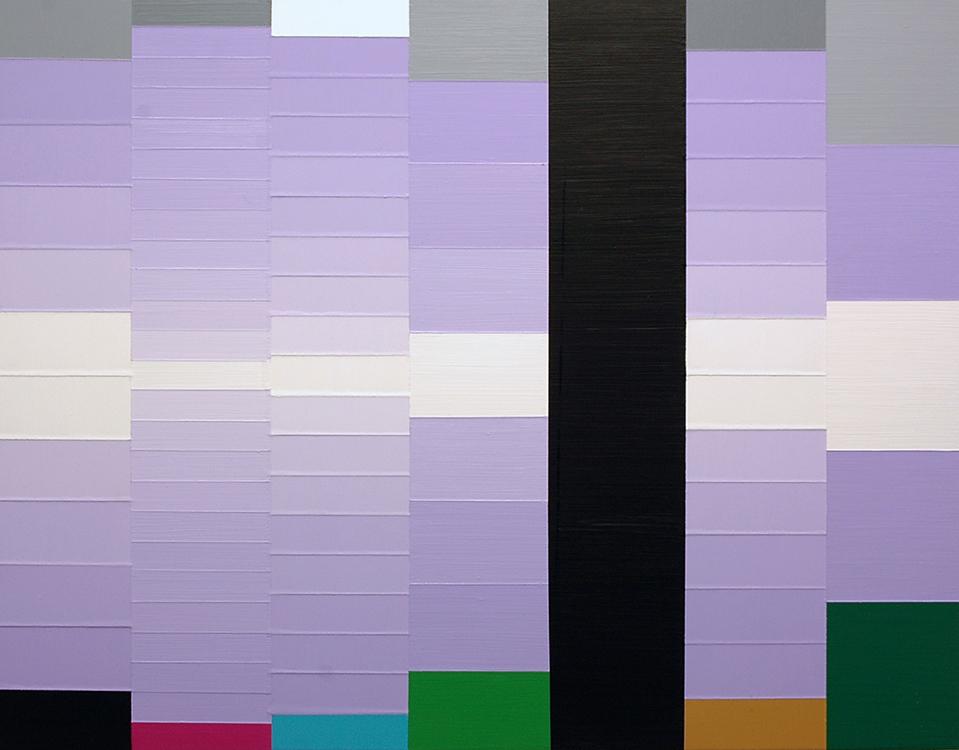 """Lysiane (Imagine);Acrylic on Aluminum Panel; 32"""" x 24""""; 2007"""