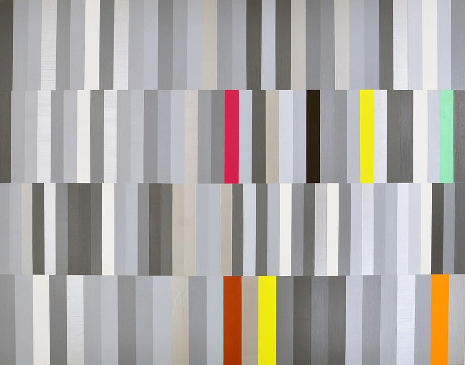 "The Jean Genie;Acrylic on Aluminum Panel; 56"" X 44""; 2004-08"