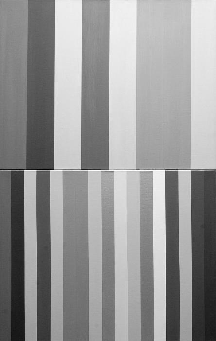"Querelle/Querelle de Brest (Achromatic); Acrylic on Canvas; 32"" x 20""; 2004-05"