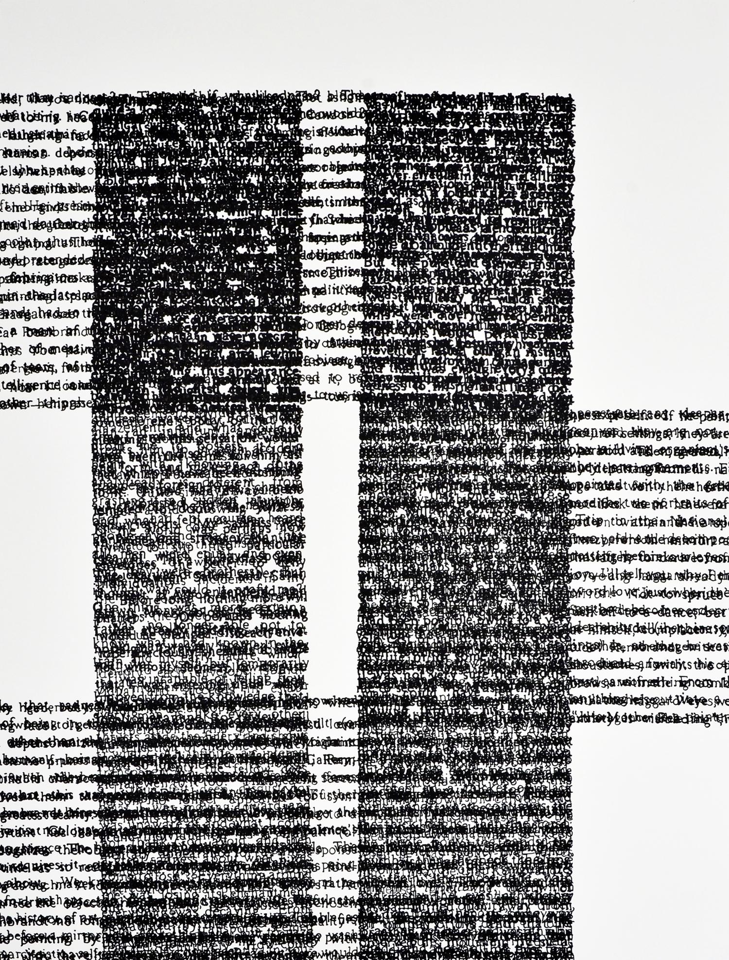 "JG on Rembrandt #2; Paint Marker on Paper; 48"" x 38""; 2000"