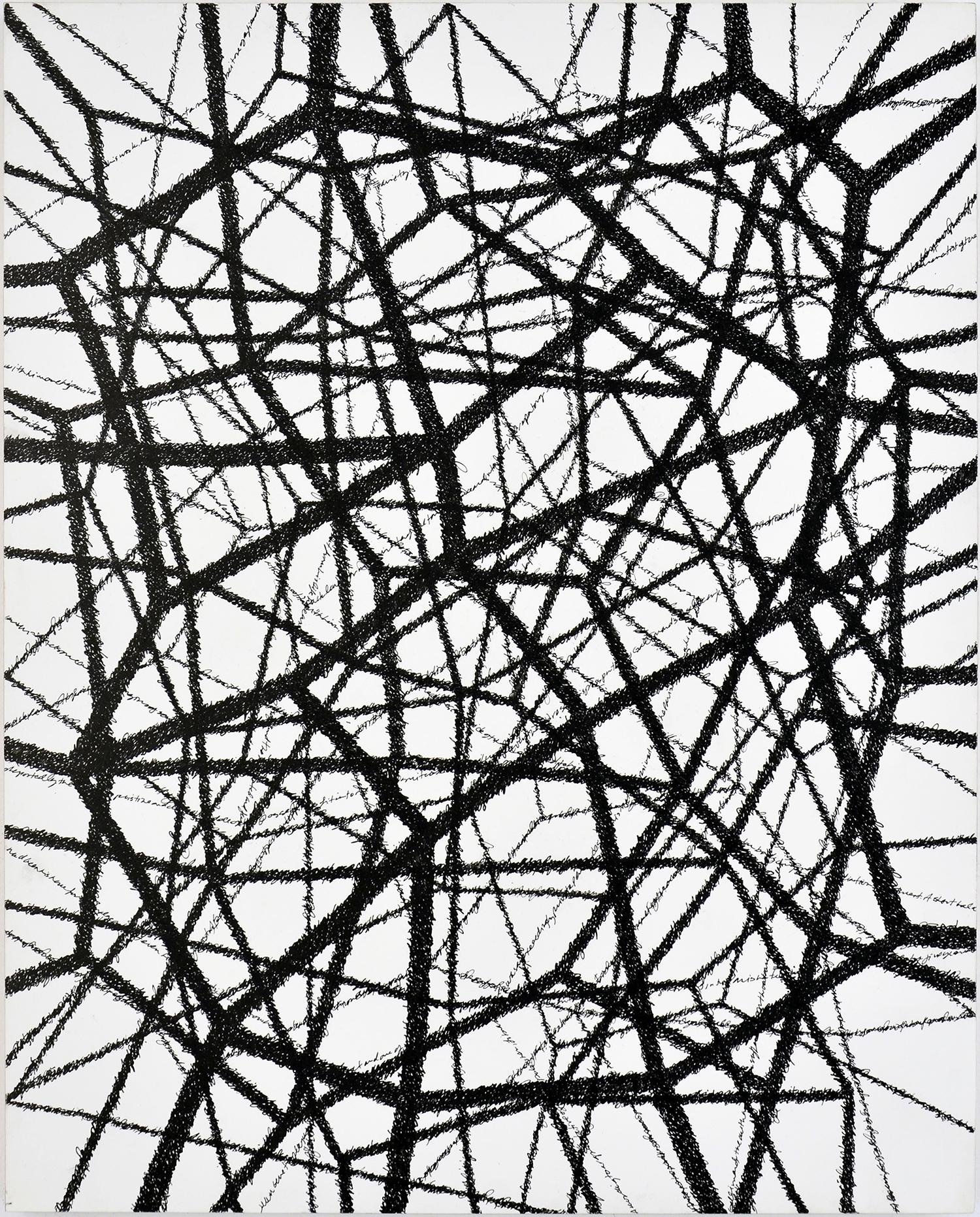 "JG Multiple Bios; Ink on Clayboard Panel; 20"" x 16""; 2014"