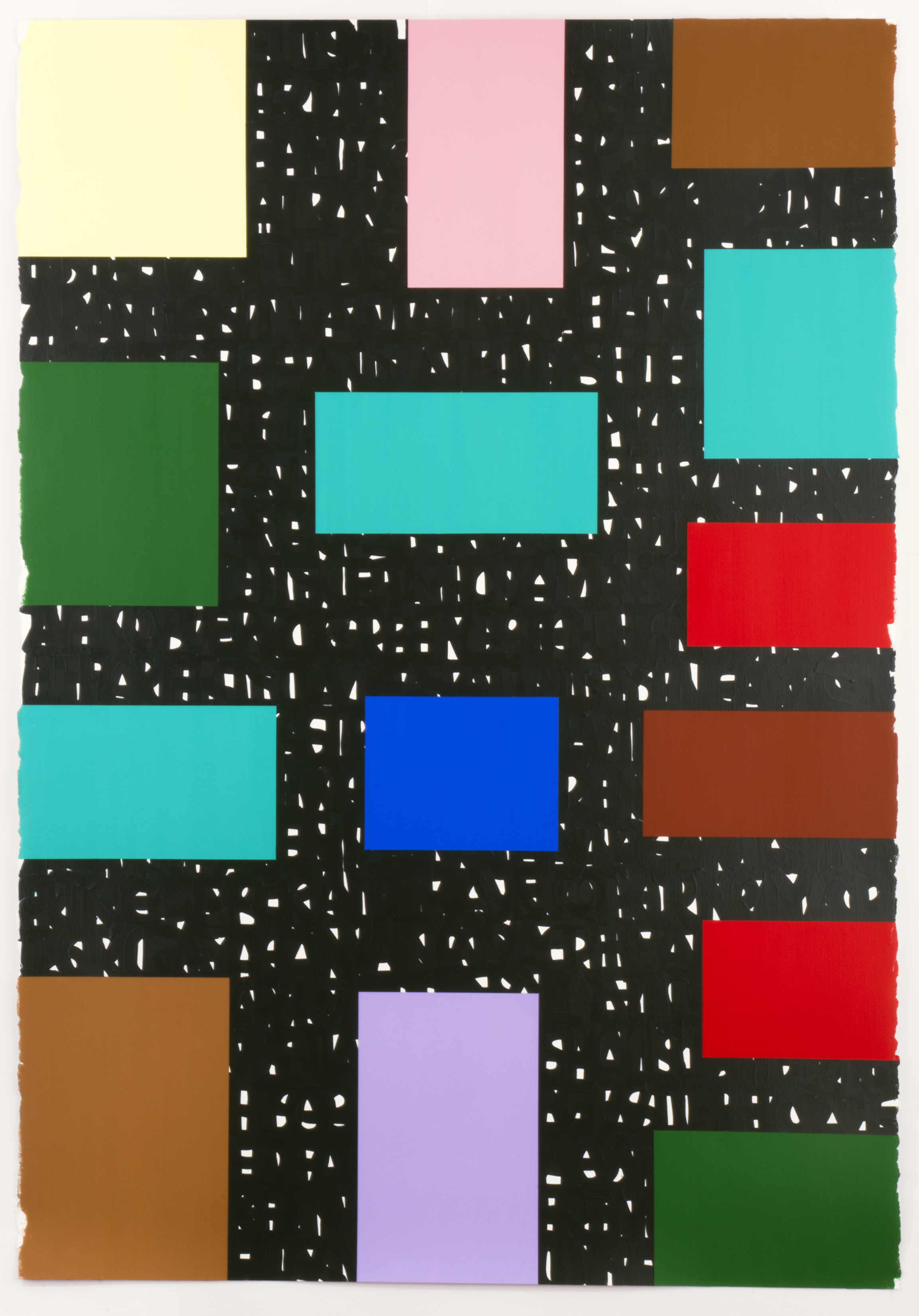 """Jean Paul Sartre, 42"""" x 60"""", acrylic and enamel on paper, 2016."""