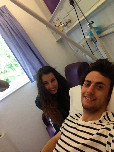 Me before my biopsy before i was diagnosed with my girlfriend Alice by my side