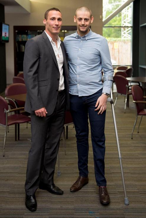 With Ex England cricketer Simon Jonesat my fundraiser luncheon.