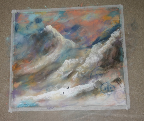 this was the pastel just before it was finished