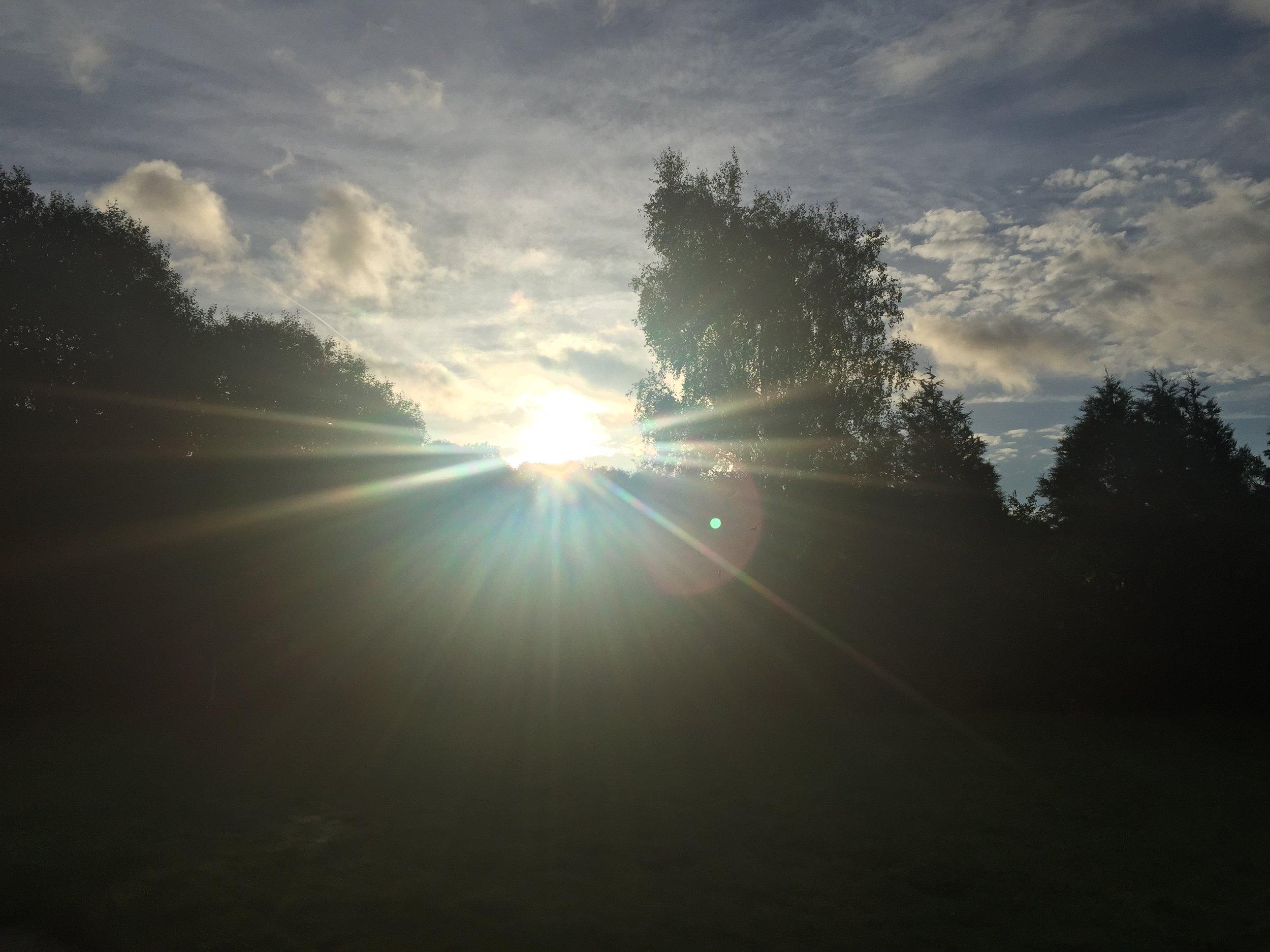 sunrise at my gaff at 07:50