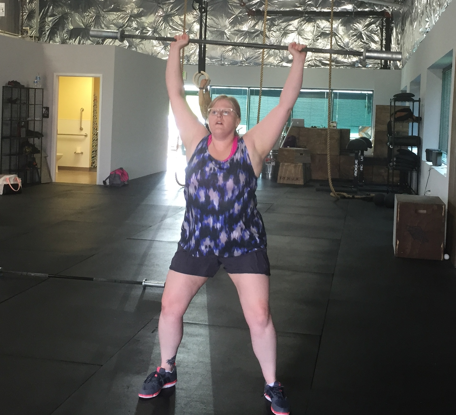 Jen is working hard to learn all of the movements. She enthusiastically graduated from the Roots program and jumped right into regular class where she will continue to grow as an athlete!