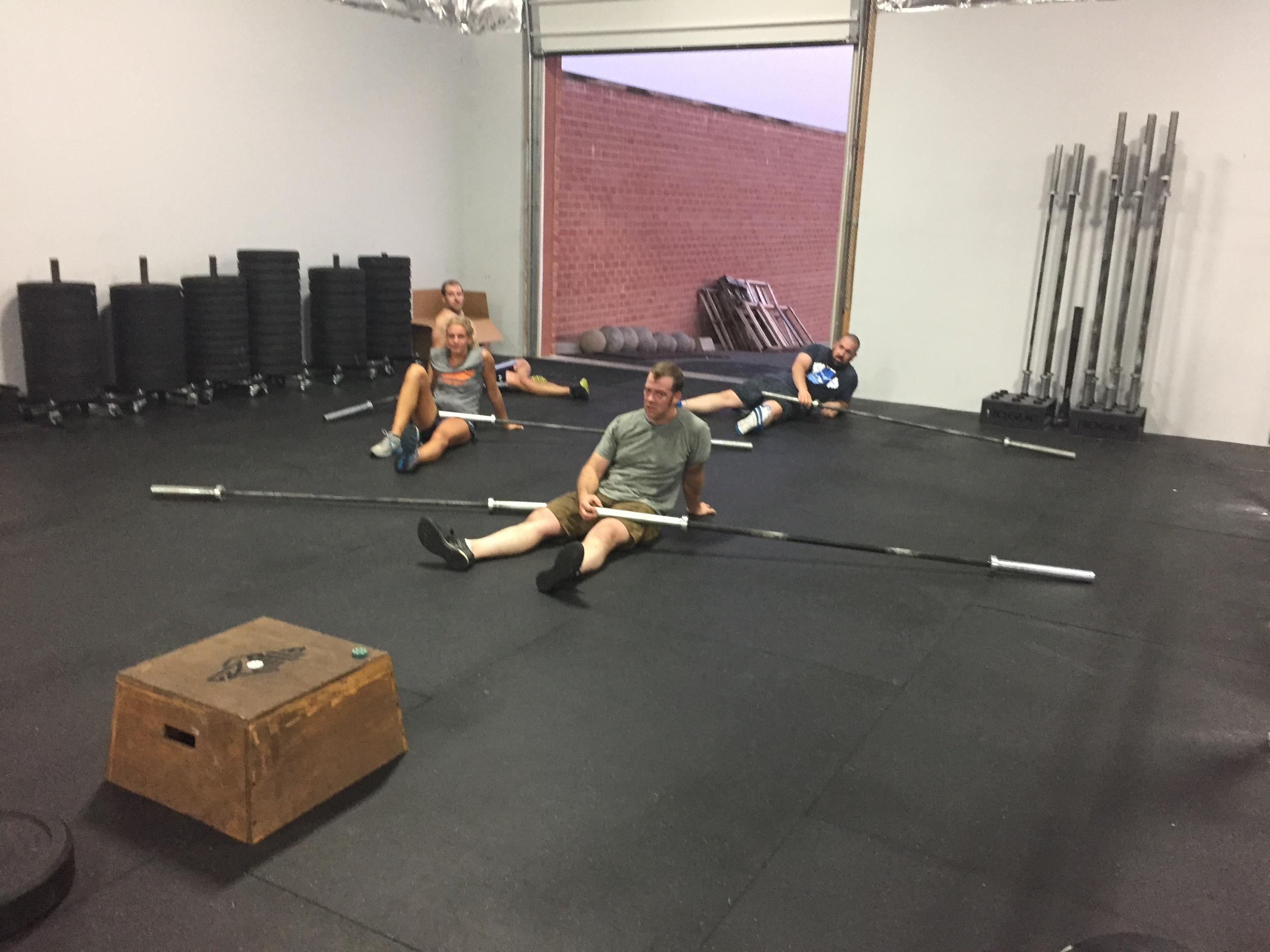 Some post-workout mobility fun.  Don't they look excited?
