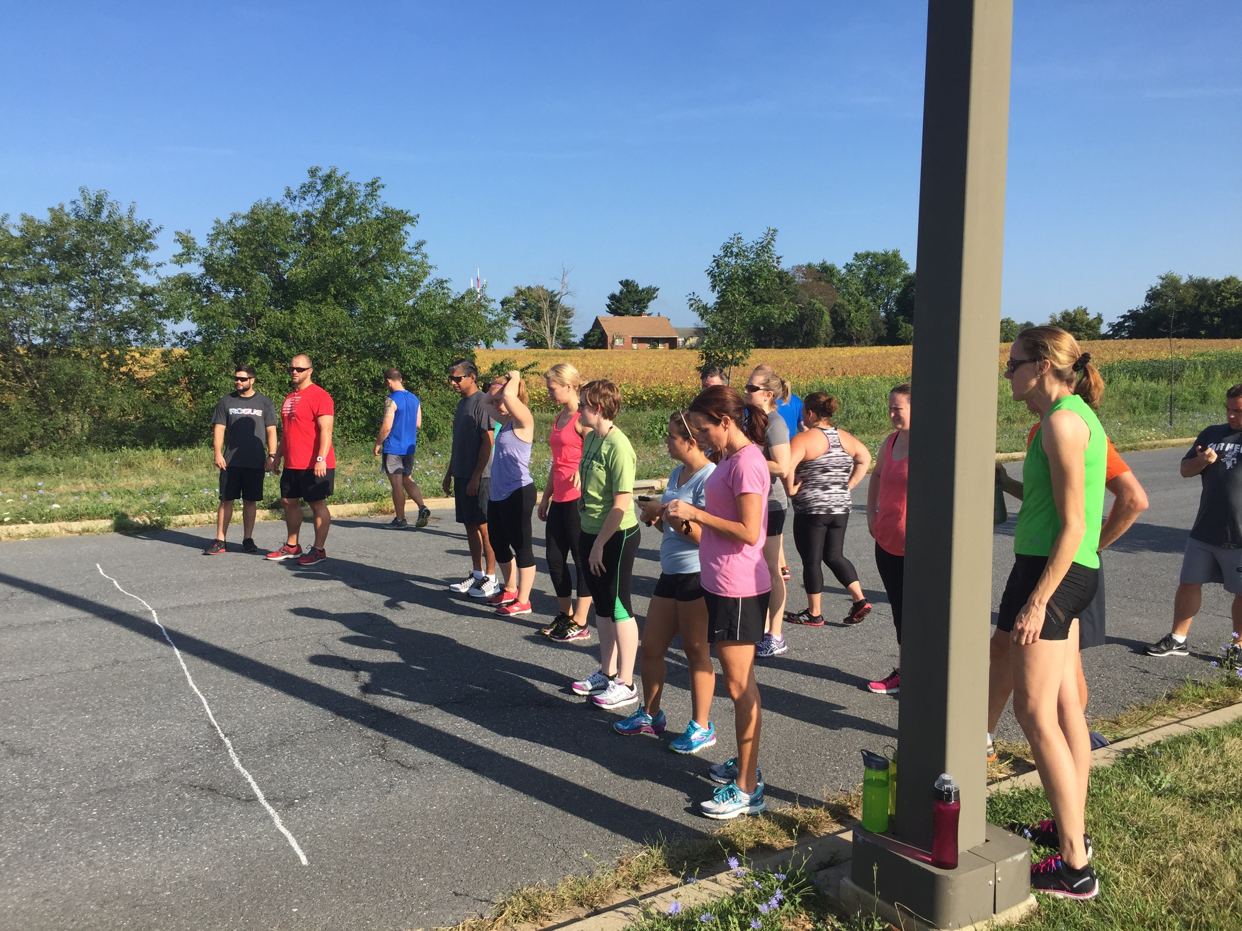 Endurance Club's first workout.
