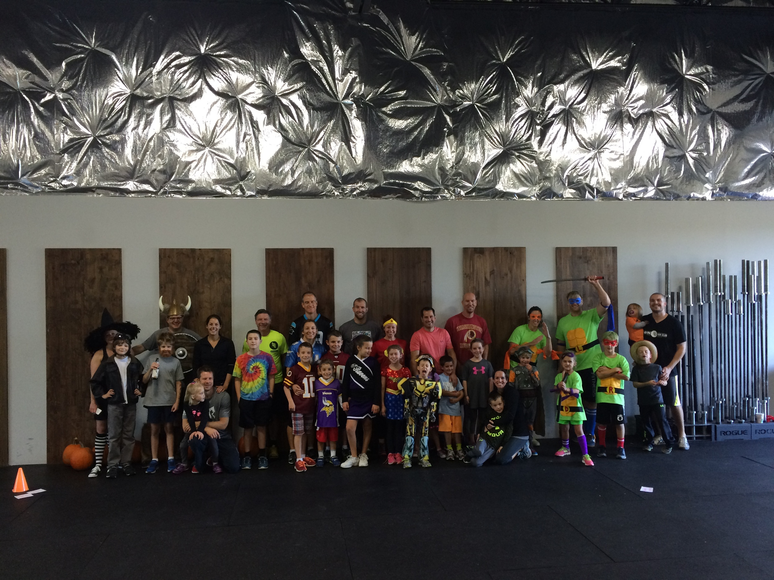 This month's Family WOD was Halloween themed! Great costumes everyone!