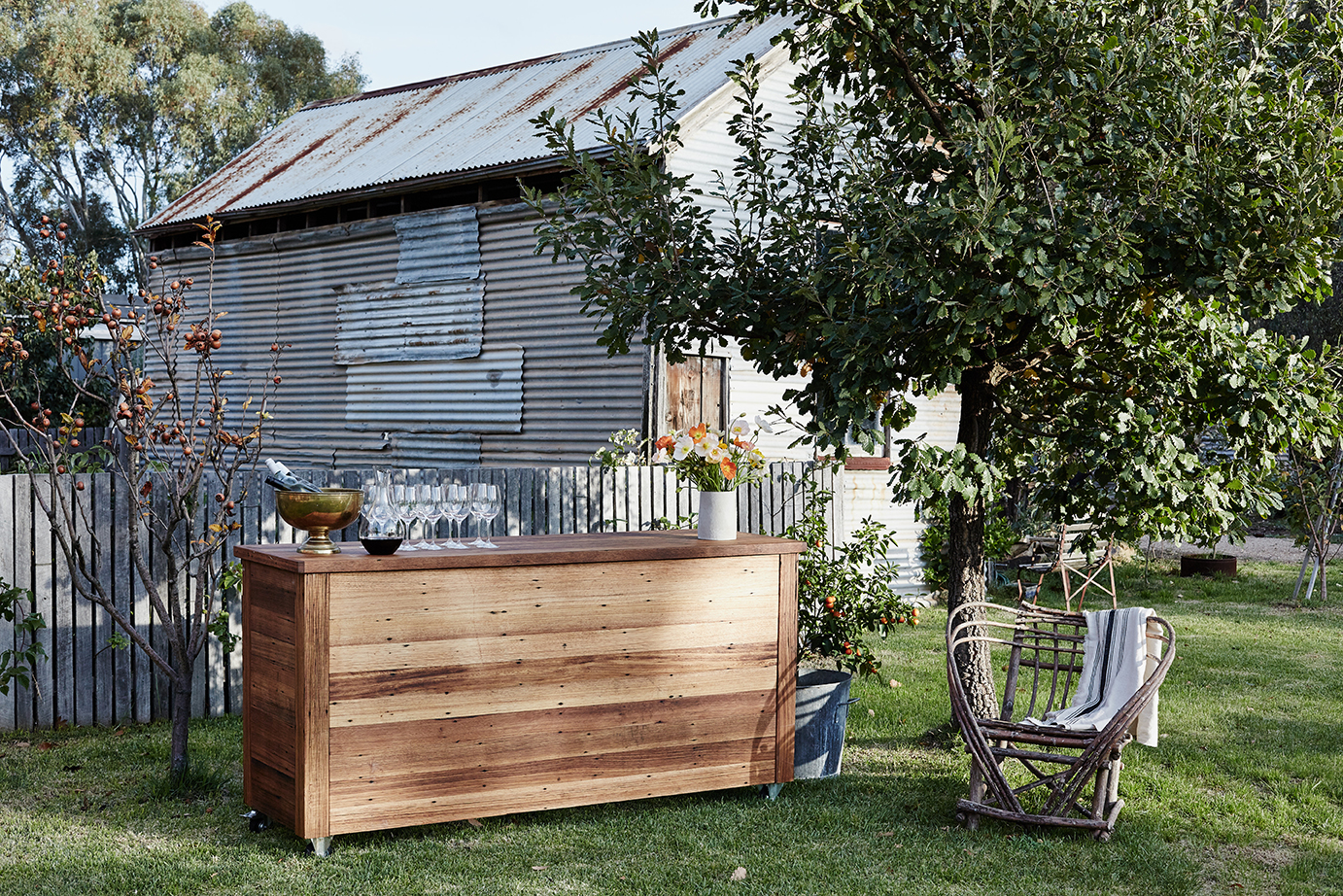Messmate Timber - Otways Bar    $250 inc    Dimensions : 210cm in length by 110cm high and 68cm in depth