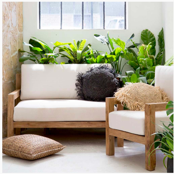 2 & 3 seater Teak & Canvas Couches available for indoor and outdoor use.  $350 inc  3 seater   $250 inc  2 seater  135x80x60cm  $125 inc Single Chair 70x80x60cm