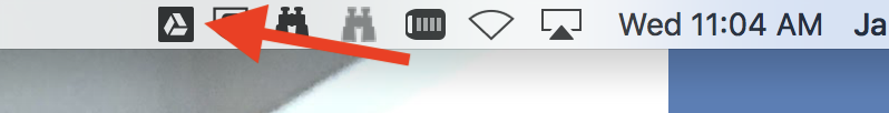Once you are logged in, this icon will appear in your menu bar (at the top of your screen).