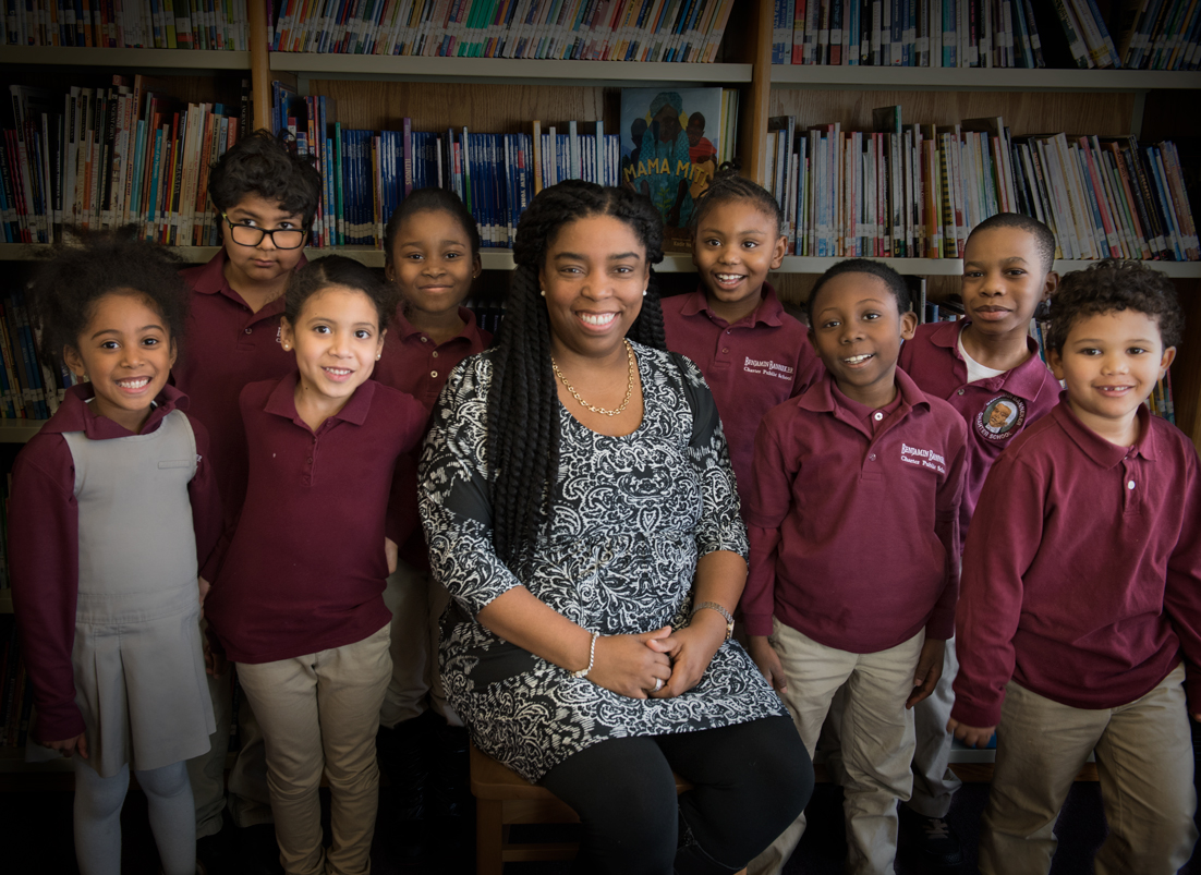 """About the Executive Director   A native of New York City, Ms. Bretous attended parochial schools growing up. She came to Boston to attend Boston University, where she earned her bachelor's degree in elementary education, and stayed. She then attended Wheelock College, where she earned her master's degree.  A teacher at heart, Ms. Bretous-Carre has worked at the Banneker since 1996 as a teacher, curriculum director, principal, and since 2011, as executive director.  """"All you need to know about how I feel about the quality of this school is that all three of my children attended this school."""""""