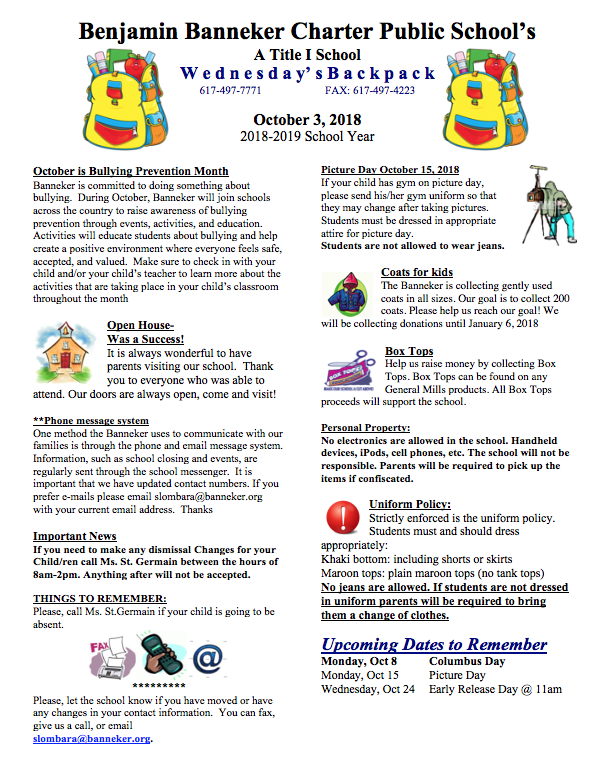 Download Link for the October 3rd Backpack    Peace of Mind