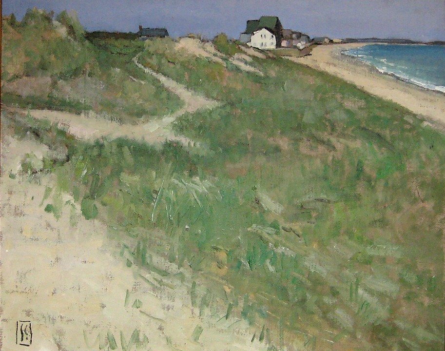 Dunes Looking North 18 x 24 oil on linen  sold