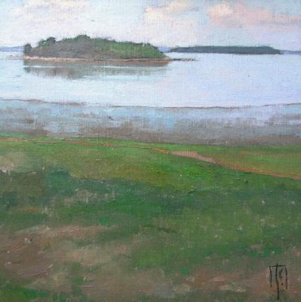 Bumpkin Island  12 x 12 oil on linen  sold