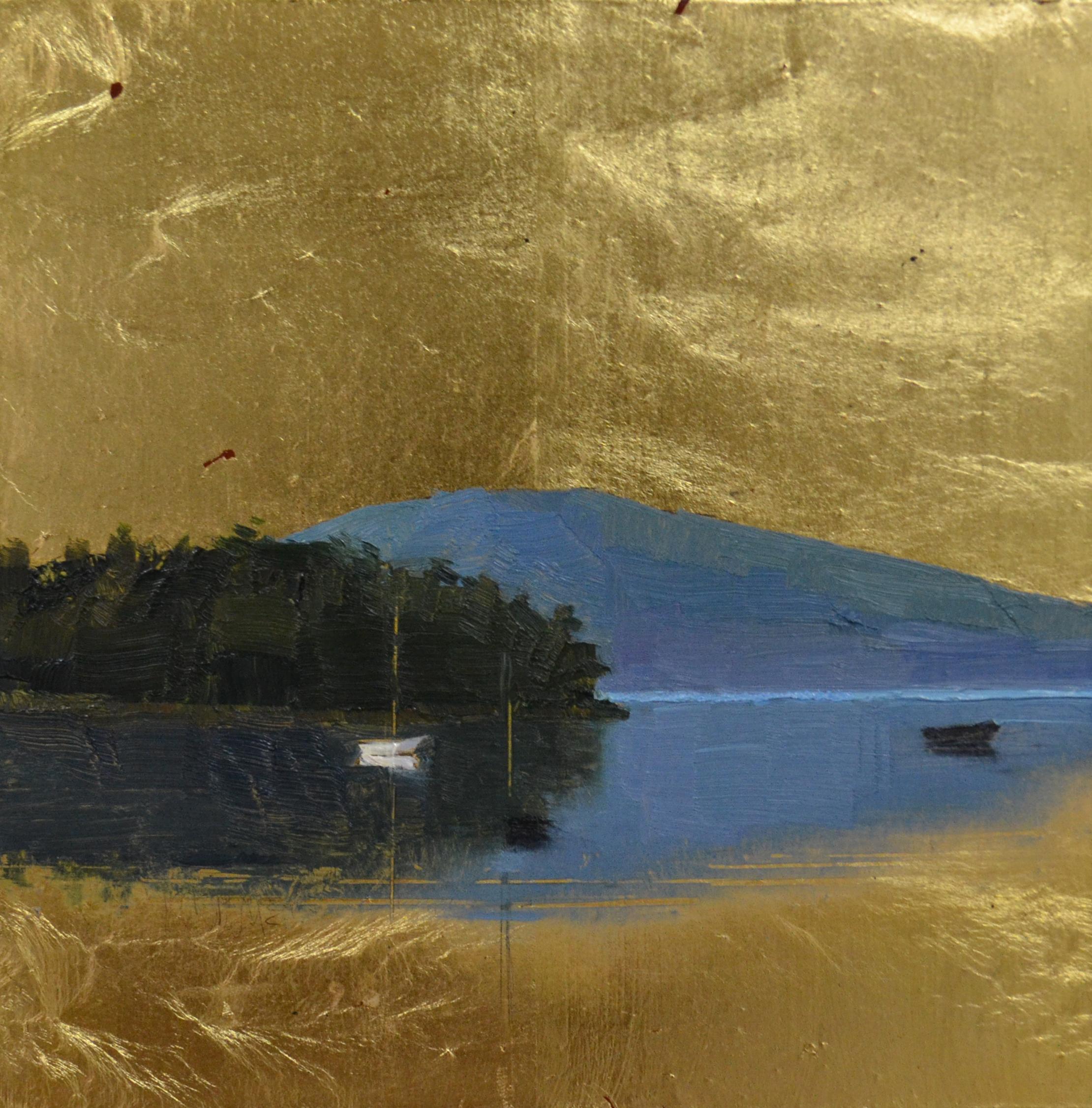 Crystalline  6 x 6 oil on gold leaf panel  sold