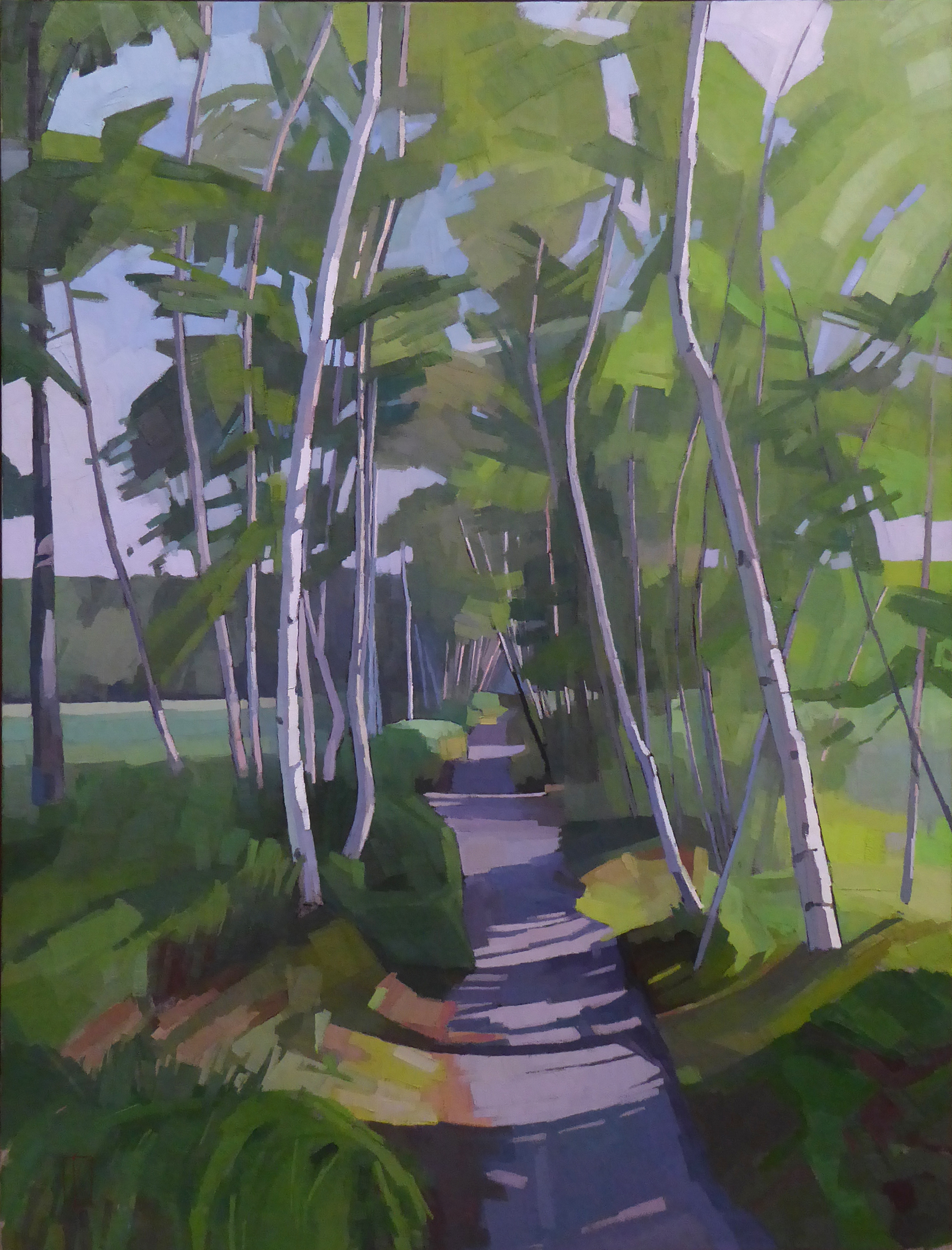 Path in the Sun  30 x 40 oil on linen   Islesford Artists Gallery