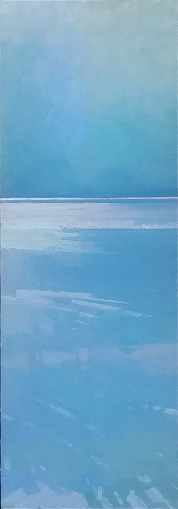 Calm Ocean  12 x 36 iridescent and interference oil   Islesford Artists