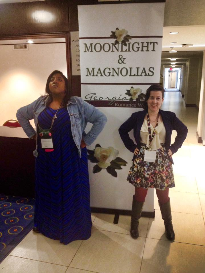 Me and my new friend Tiffany practicing our power pose before pitching!
