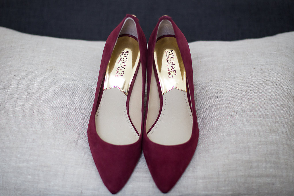 Red Michael Kors rouge bride shoes souliers Mariage Montreal Wedding