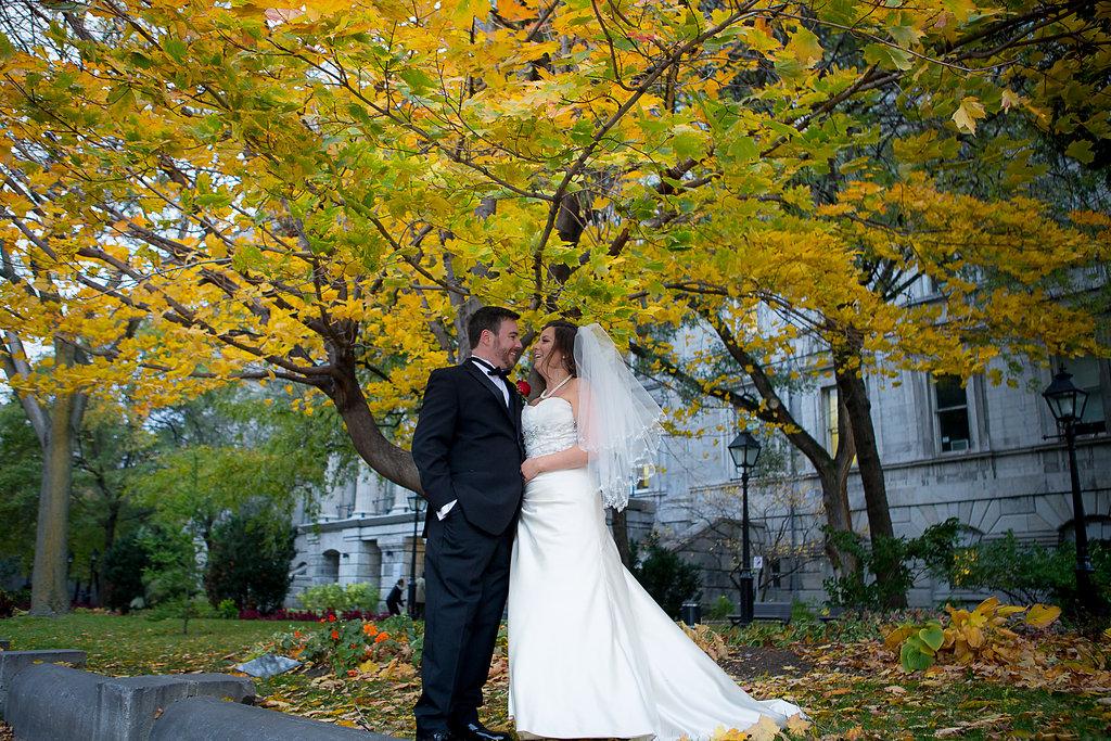 Mariage d'automne Montreal Fall Wedding Bridal Photos