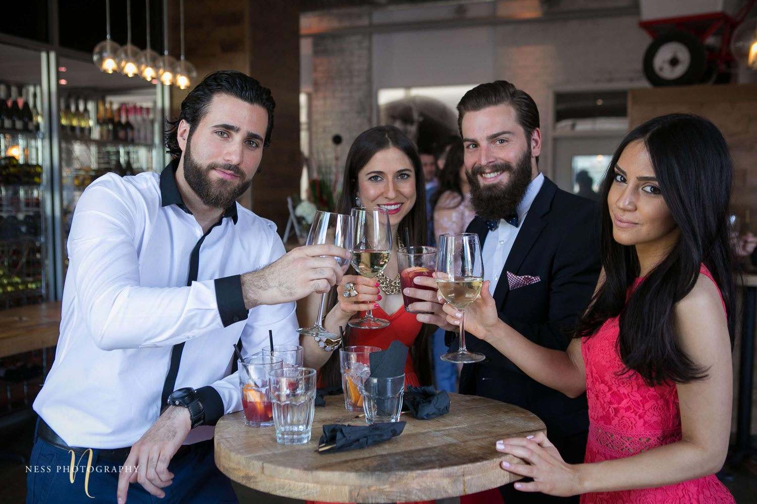 guests toasting at engagement Party in Montreal