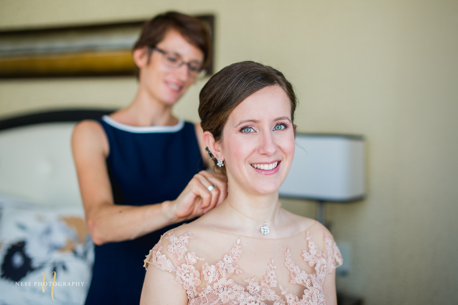 bride getting ready for montreal elopement