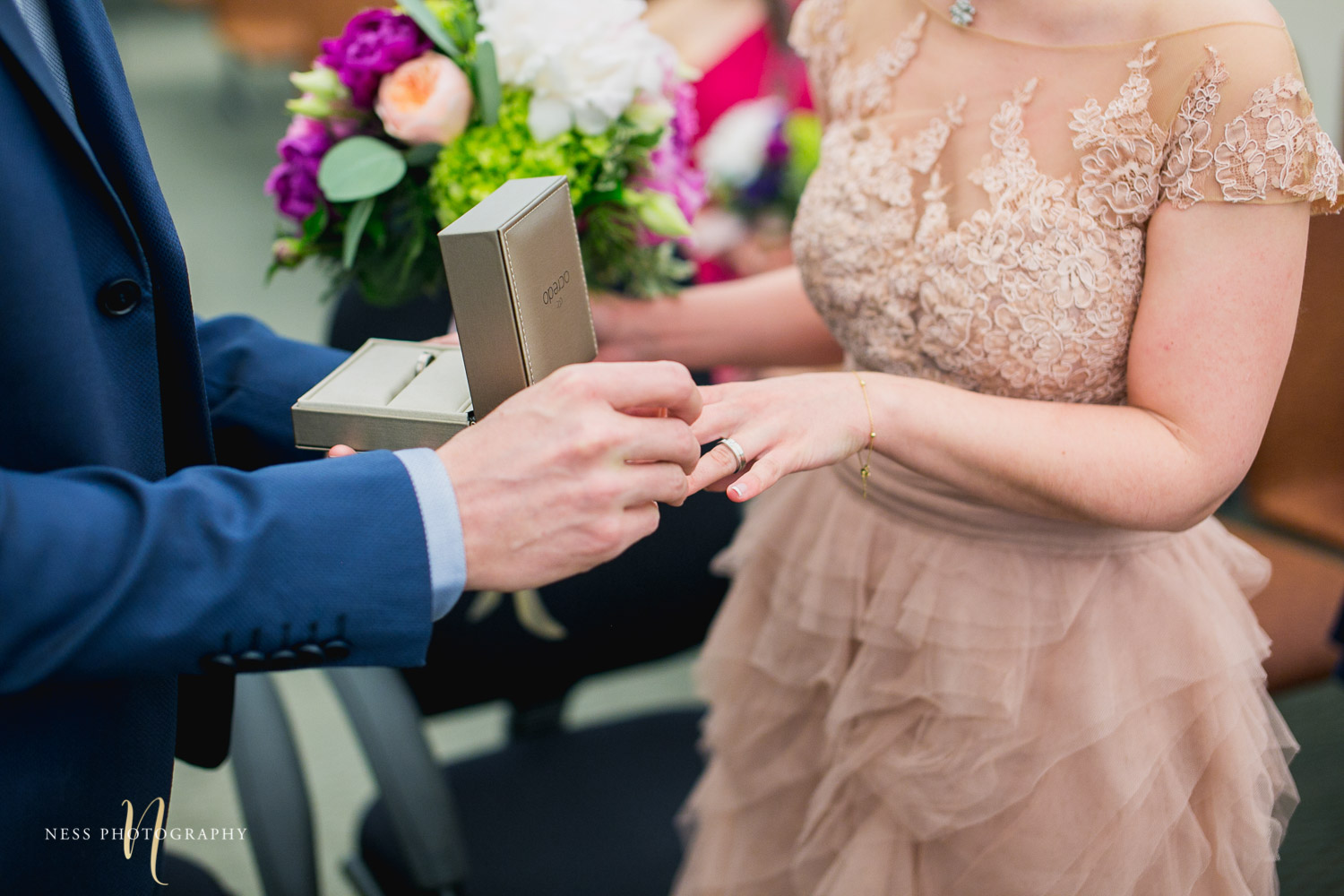 ring exchange during Montreal elopement at palais de justice