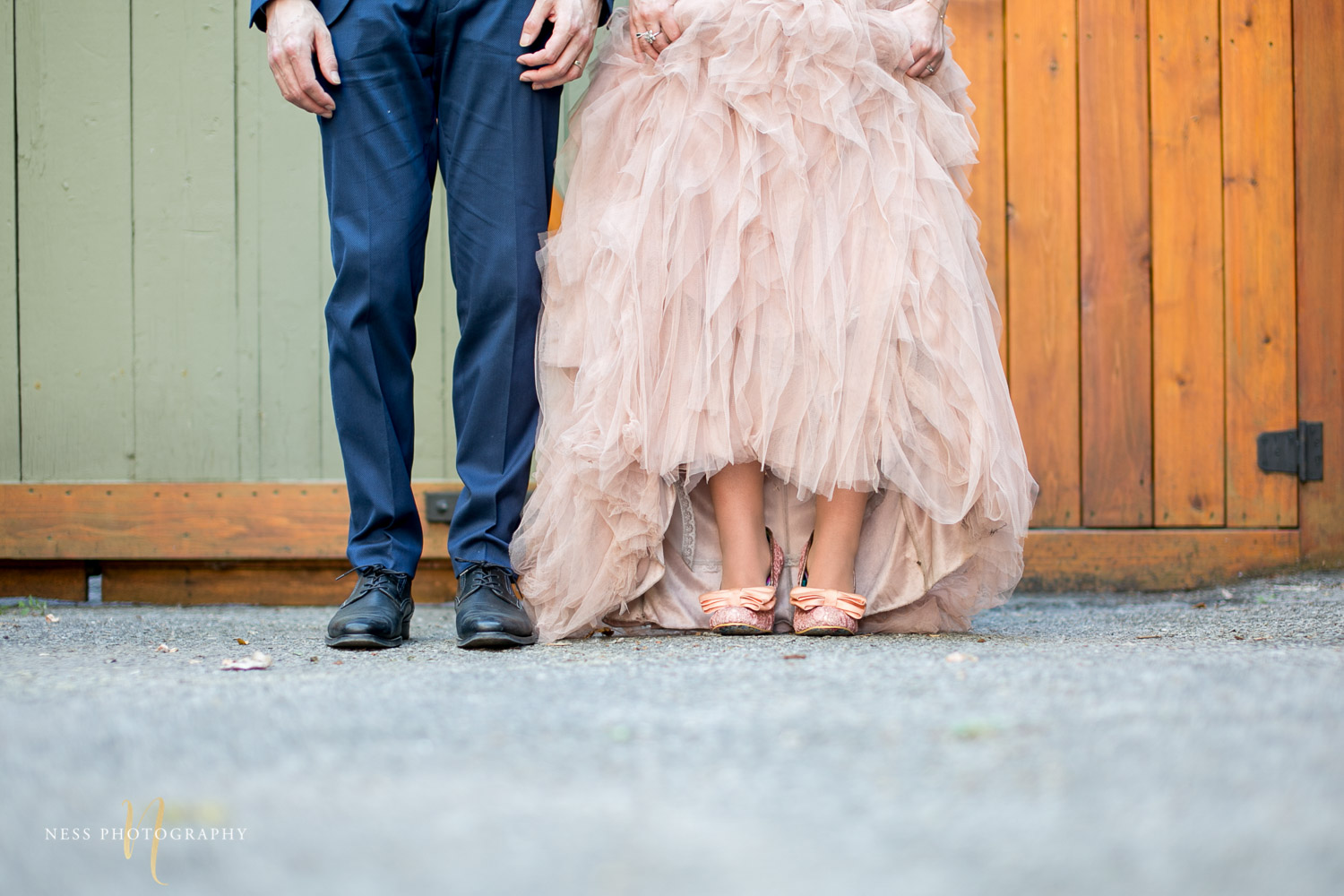 bride and groom shoes during elopement wedding photos in plateau mont royal