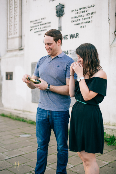 Surprise proposal in montreal old port clock tower by ness photography montreal wedding photographer 5.jpg